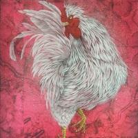 金澤隆「霊鳥・紅」P8