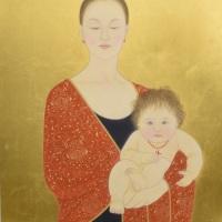 安田育代「母と子-聖なる時」