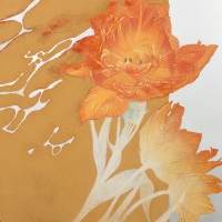 「うたかたの」S9号 金属板/アクリル絵具・岩絵具・膠