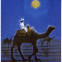 平山郁夫「月明砂漠行く」