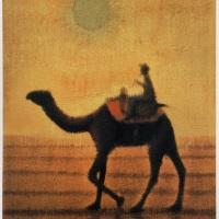 平山郁夫「朝陽駱駝行く」