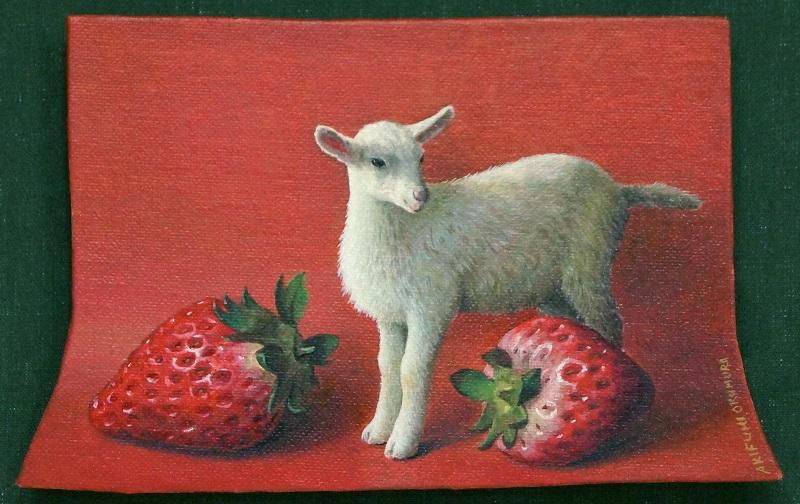 奥村晃史「Goat On Red」