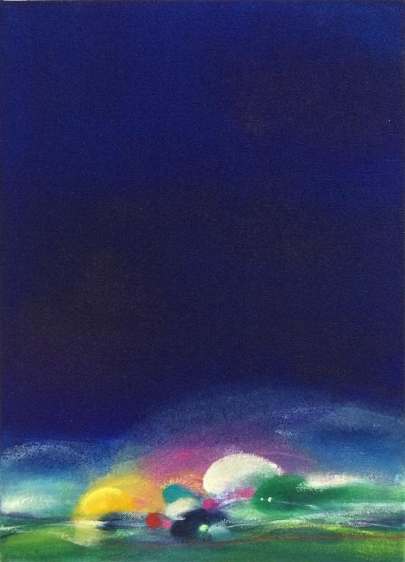 青木恵美子「いつかずっと」F4号、油彩・アクリル・パステル/キャンバス