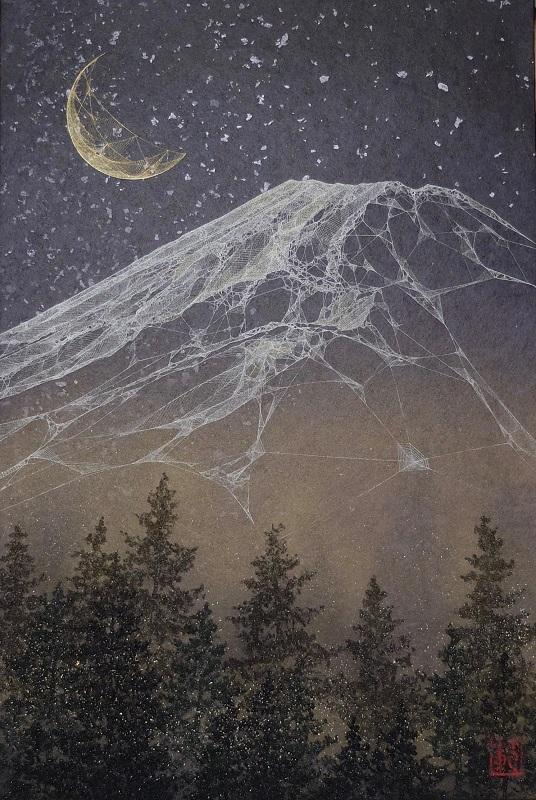 小林範之「星空の山」P6号