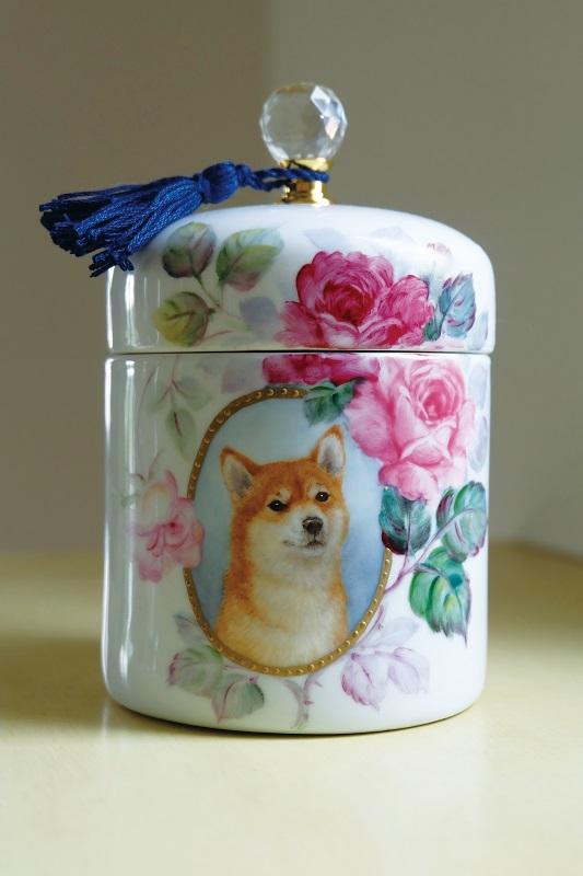 大木しのぶ「メモリアルポット」(犬)