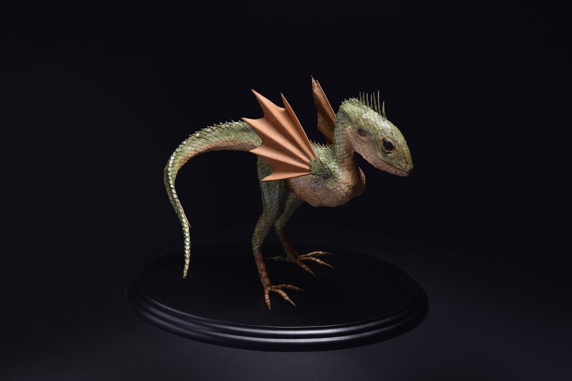 江本創 「Dracostatum aviscruris」台座24.2 × 16 x h20 cm