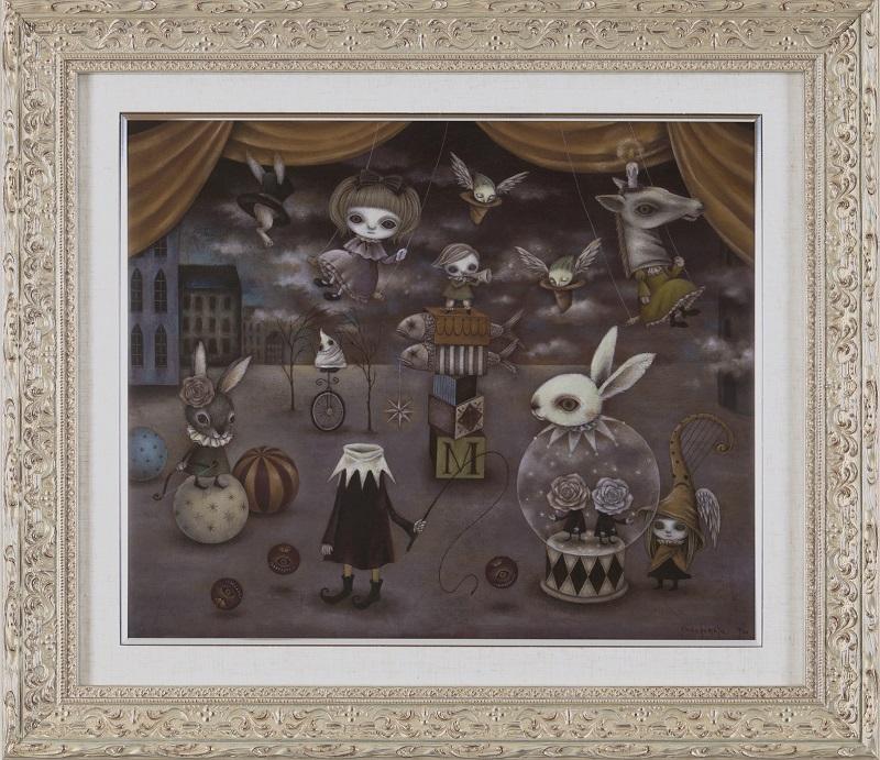 額装ジークレー版画「真夜中のサーカス」