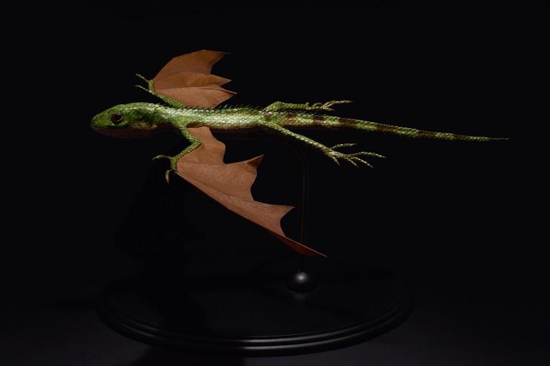 江本創「Draconis virectum」39×48×20 cm(Photo by 森脇健夫)