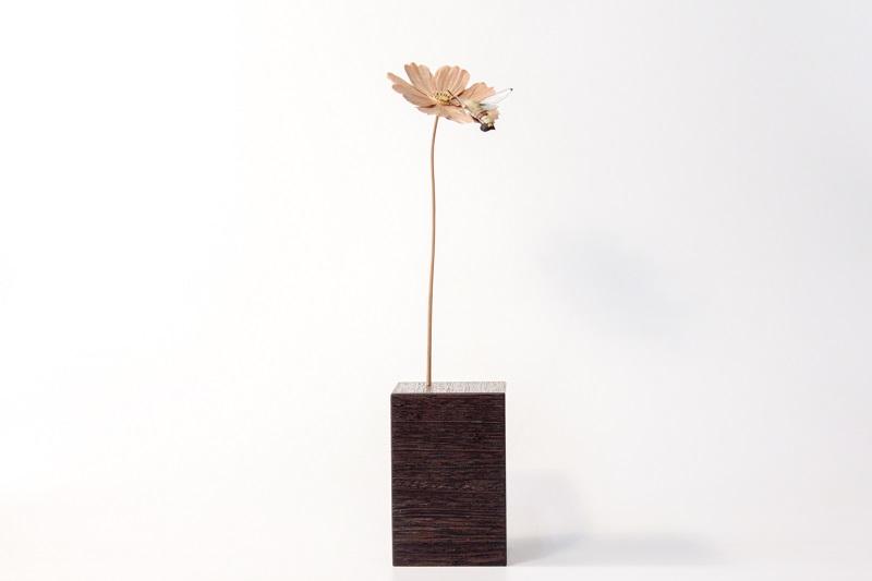 福田亨「一輪」2019, 80 × 100 × 320mm
