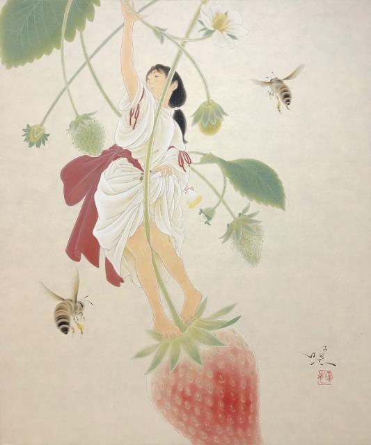 熊谷曜志「甚緋子」2019,F8号