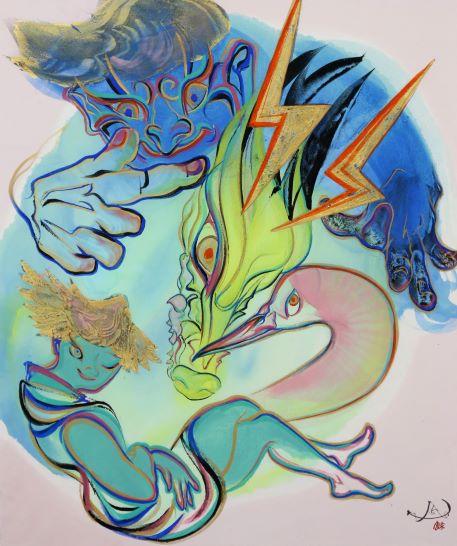 川﨑麻央「雷神風神-ぐるり-」F8