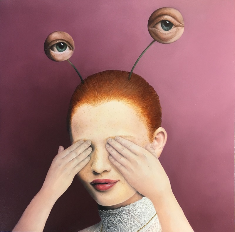 Hyemi Cho, See or not, 2019, 30.5 × 30.5 cm