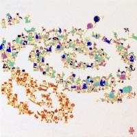 古家野雄紀「二重螺旋群像図」2018年、S8号