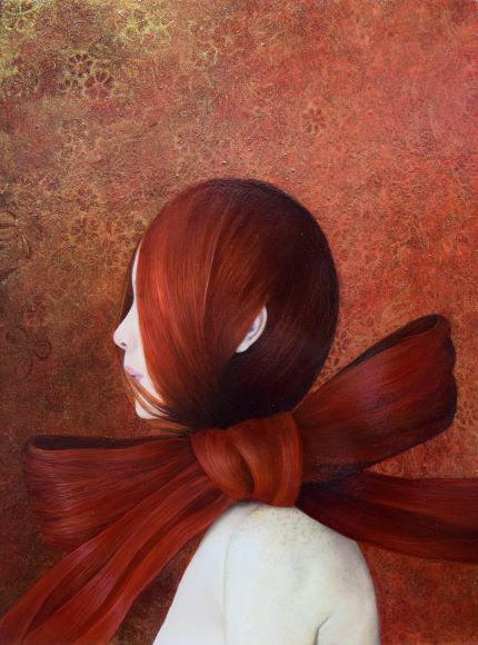 Hyemi Cho「包まれて」2019年、40 × 30 cm