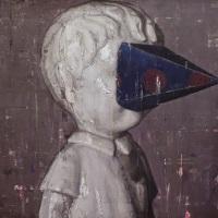 「盲目なボーイ」 F50、 油彩、キャンバス、パネル