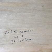 作品名:Veil of ignorance 3(サイン)制作年:2017年サイズ:S6(40×40 cm)素材:綿布・岩絵具・水干価格:79,200円(税込)備考:額なし