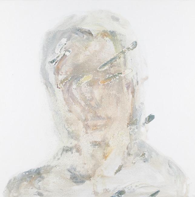 作品名:Veil of ignorance 1制作年:2019年サイズ:S6(40×40 cm)素材:綿布・岩絵具・水干価格:79,200円(税込)備考:額なし
