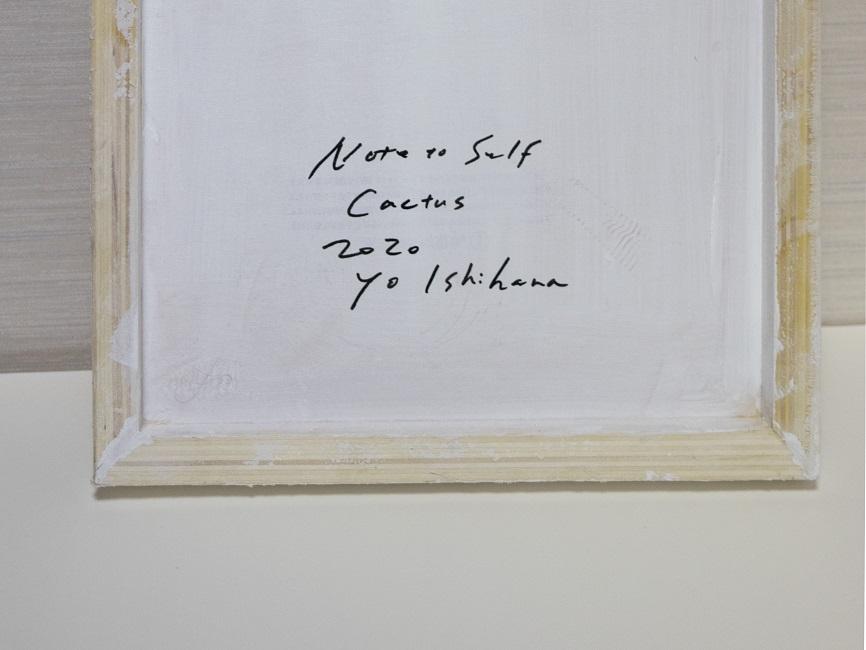 作品名:Note to self「Cactus」(サイン)サイズ:SSM(22.7×22.7 cm)素材:綿布・岩絵具・水干・アクリル絵具・グロスポリマー価格:39,600円(税込)備考:額なし