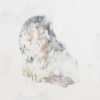 石原 葉「無効信号 birthday」2016年、F30(91×72.7 cm)、綿布・岩絵具・水干