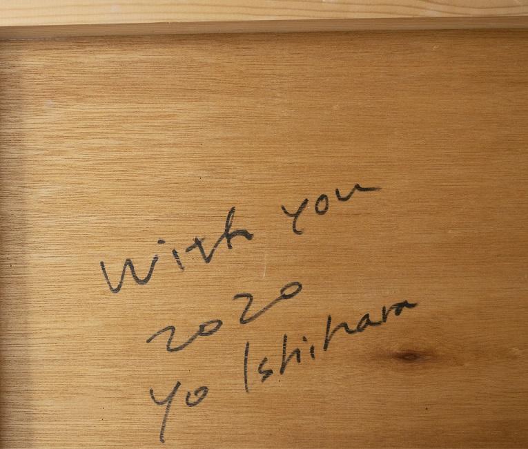 作品名:who「With you」(サイン)制作年:2020年サイズ:S30(91×91 cm)素材:綿布・岩絵具・水干・アクリル絵具価格:277,200円(税込)備考:額なし