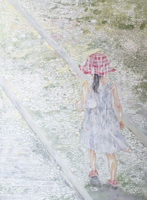 作品名:who「Tomorrow」制作年:2020年サイズ:P40(73×103 cm)素材:綿布・岩絵具・水干・アクリル絵具価格:316,800円(税込)備考:額なし