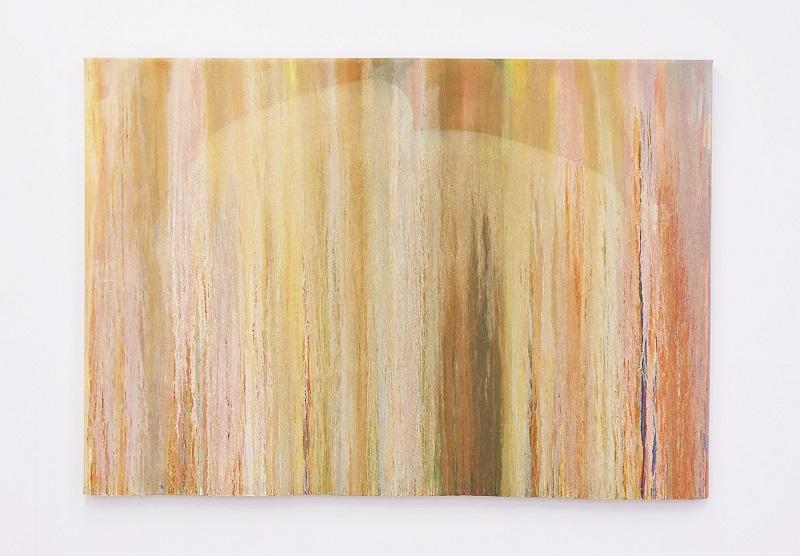 中あやの「調和、その奥のもの」2020、126.2×180.9cm、油彩、キャンバス