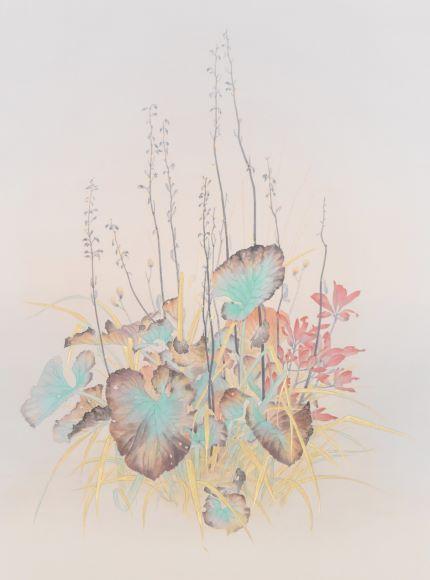 安原成美「雄宝香」2021年、M12号、紙本彩色